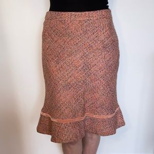 GAP Wool Woven Warm Coloured Vintage Midi Skirt